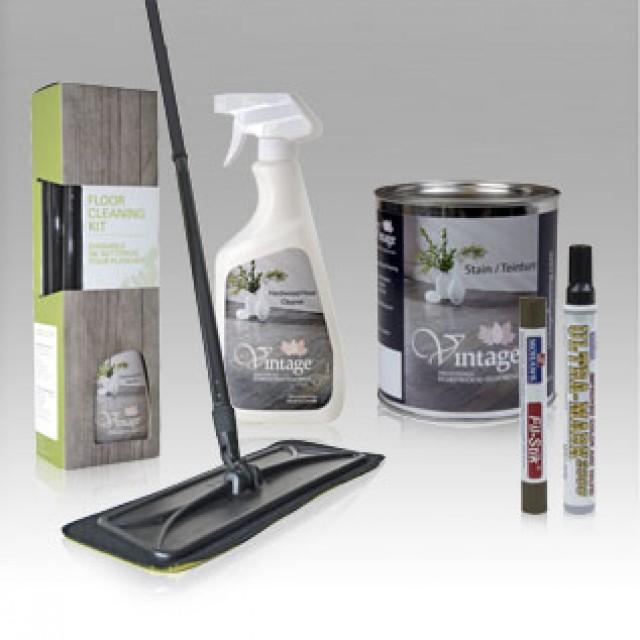 Produits d'entretien et retouches pour planchers de bois franc