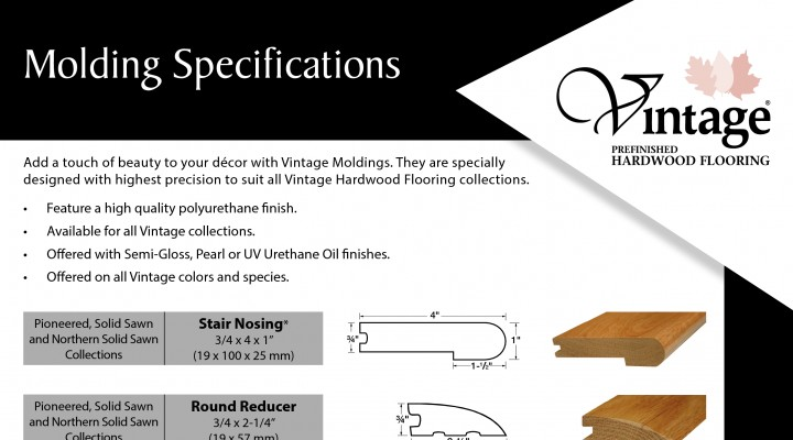 Moldings Specifications