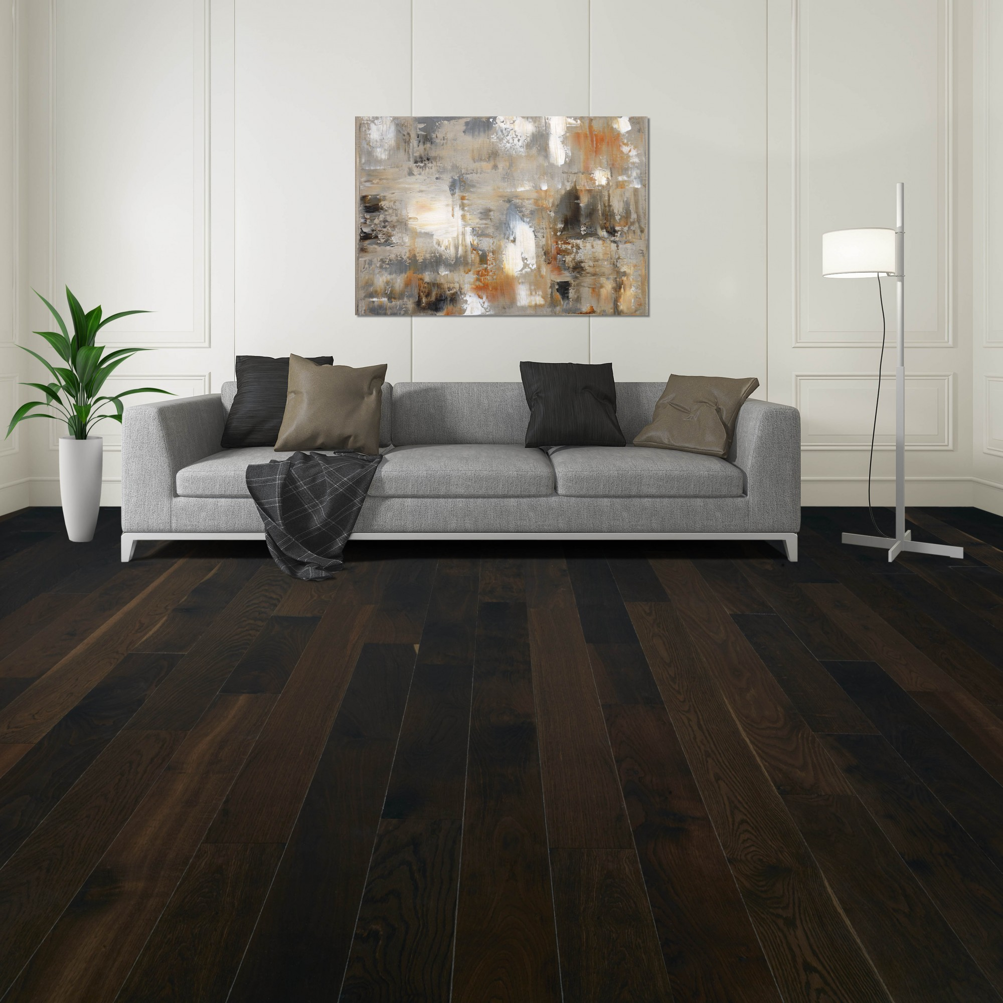 Fumed White Oak Black Oak Smooth Vintage Hardwood