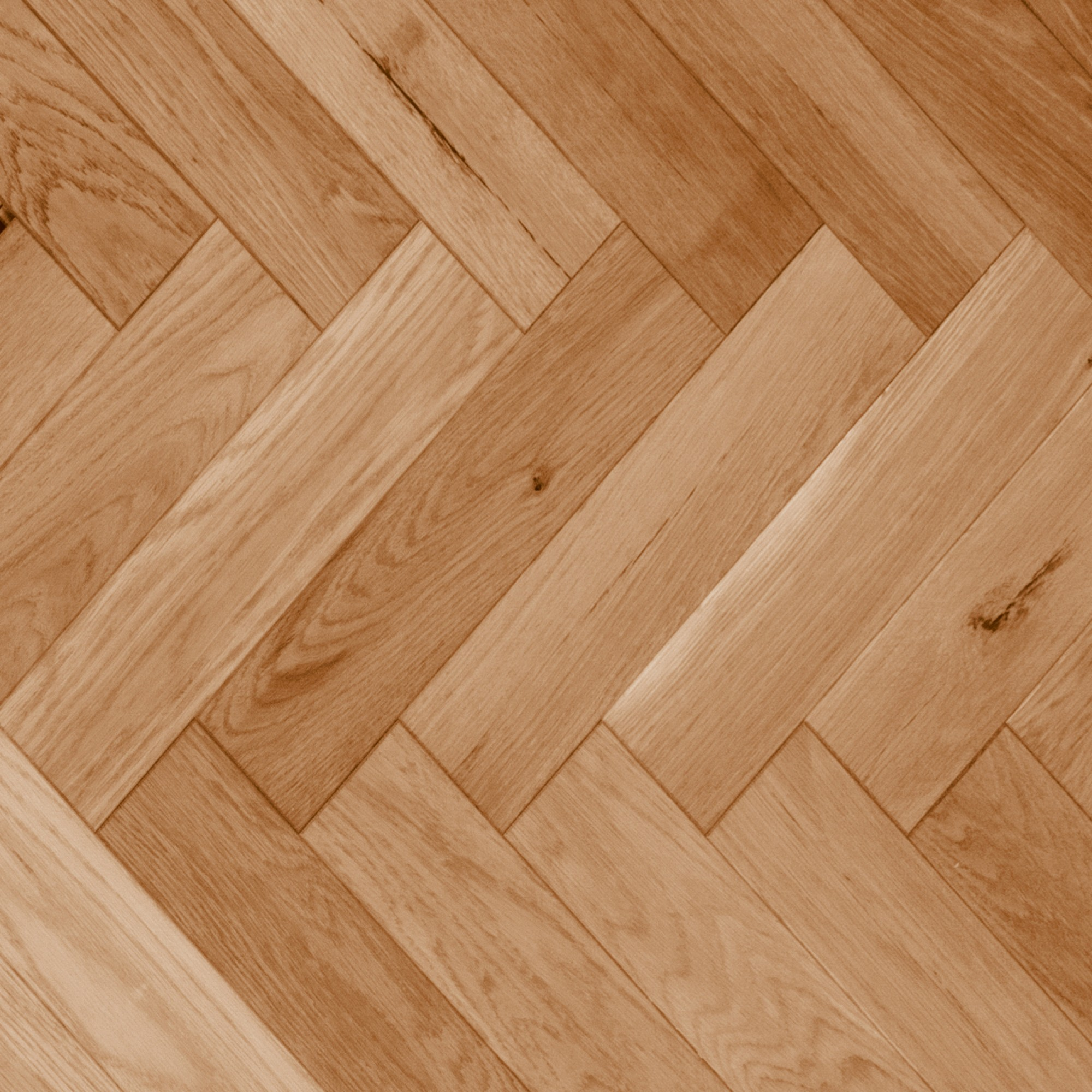 Herringbone Red Oak Natural Smooth Vintage Hardwood