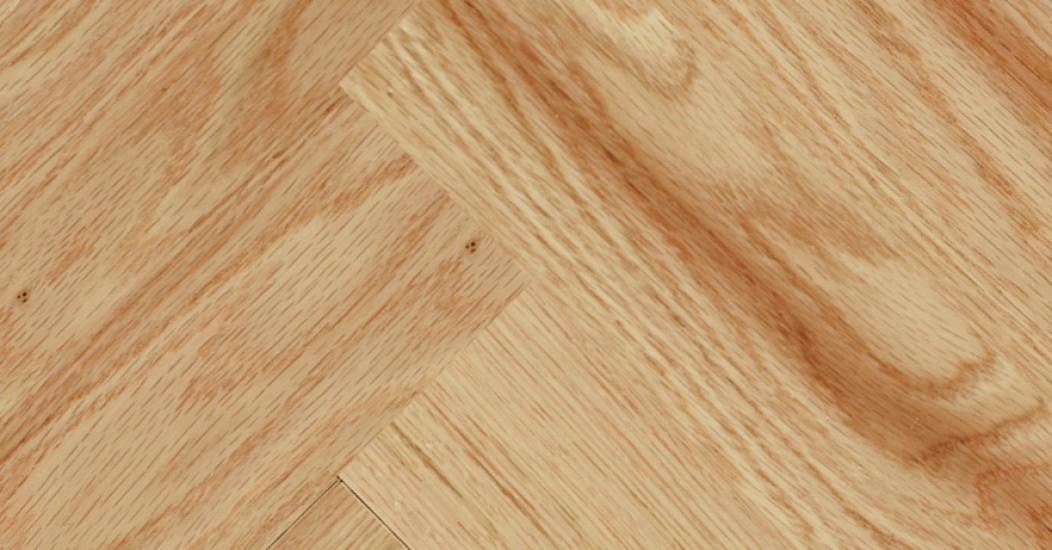 Herringbone Red Oak Natural Smooth Vintage Hardwood