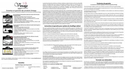 Information de garantie et de maintenance