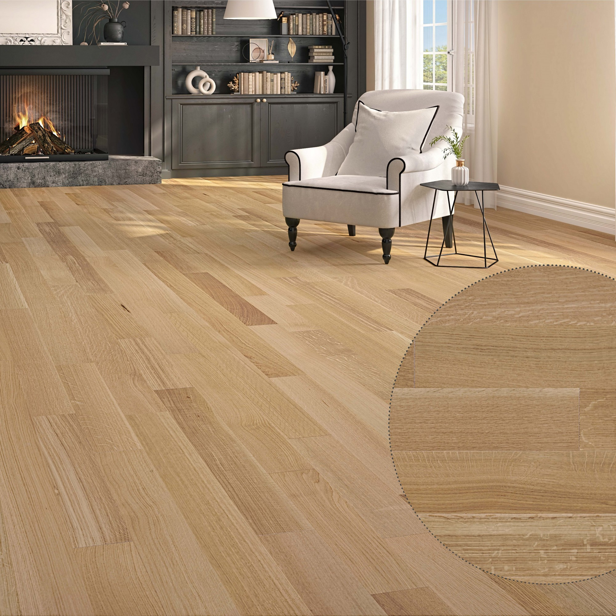 White Oak Natural Rift & Quarter Sawn
