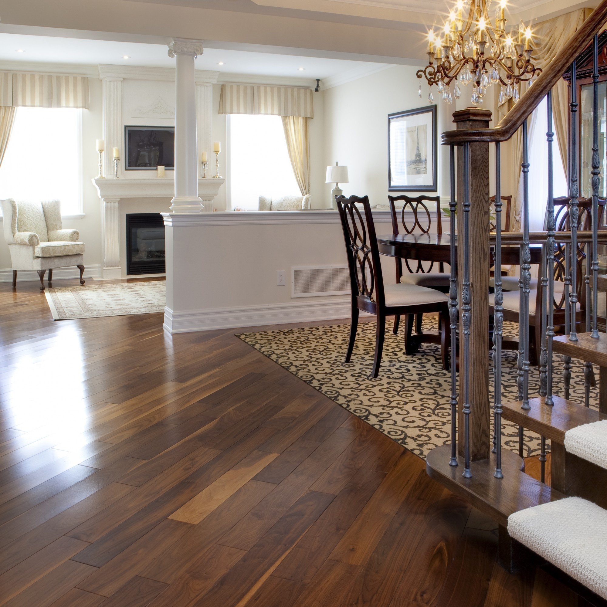 Smooth Black Walnut Natural Vintage Hardwood Flooring