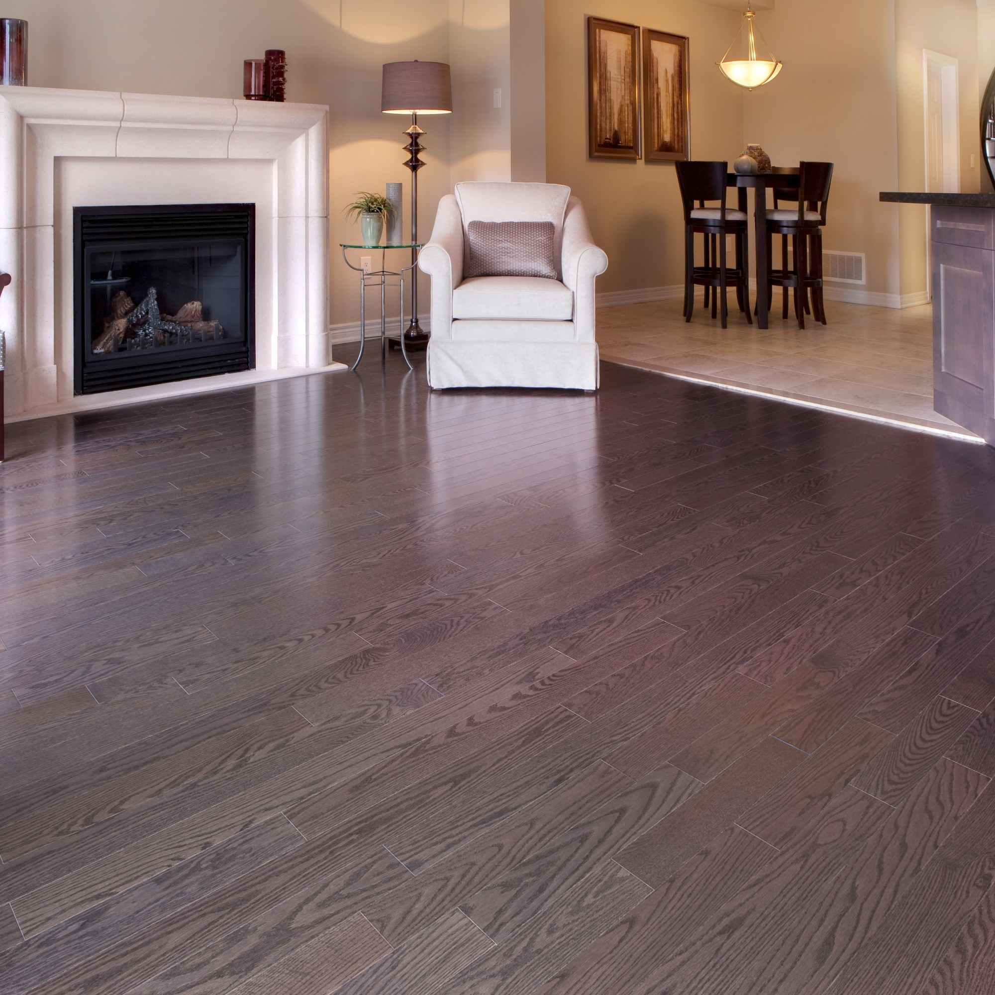 Smooth Red Oak Pewter Vintage Hardwood Flooring And